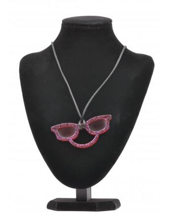 Collier porte lunettes acétate